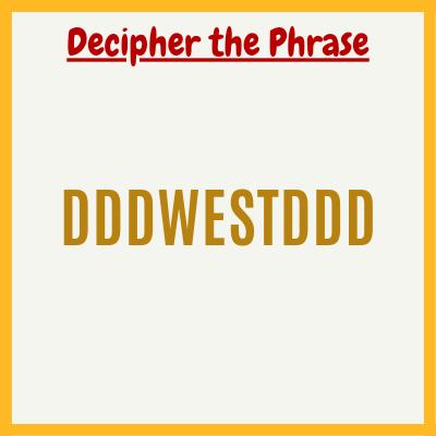 dddwestddd – Brain Teaser with Answer